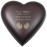 Brass Heart Espresso Hands Or Feet Prints Baby 53 cu in Cremation Urn-Cremation Urns-New Memorials-Afterlife Essentials