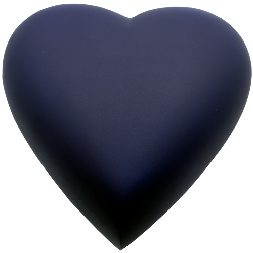 Brass Heart Blue Nightfall Baby 53 cu in Cremation Urn-Cremation Urns-New Memorials-No Thank you-Afterlife Essentials
