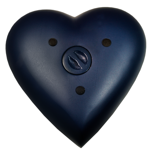 Brass Heart Blue Nightfall 53 cu in Cremation Urn-Cremation Urns-New Memorials-Afterlife Essentials