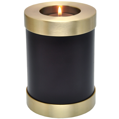 Candle Holder Series Round Espresso 20 cu in Cremation Urn-Cremation Urns-New Memorials-Afterlife Essentials