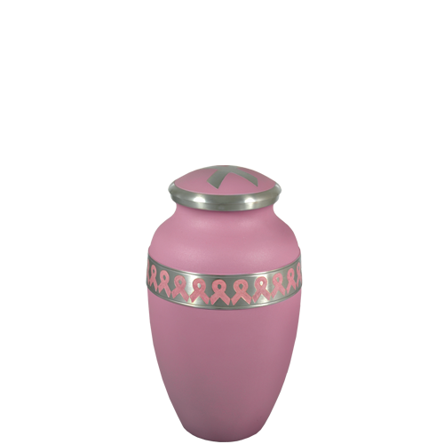 Pink Breast Cancer Ribbon Mini 4 cu in Cremation Urn Keepsake-Cremation Urns-New Memorials-Afterlife Essentials