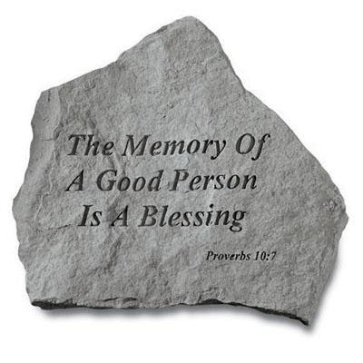 The Memory Of A Good… Memorial Gift-Memorial Stone-Kay Berry-Afterlife Essentials