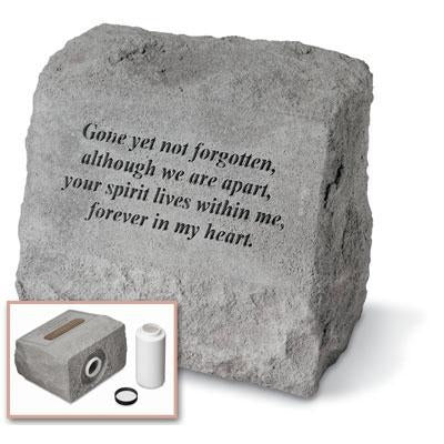 Gone yet… headstone w/urn Memorial Gift-Memorial Stone-Kay Berry-Afterlife Essentials