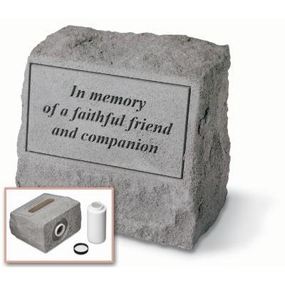 In memory… headstone w/urn Memorial Gift-Memorial Stone-Kay Berry-Afterlife Essentials