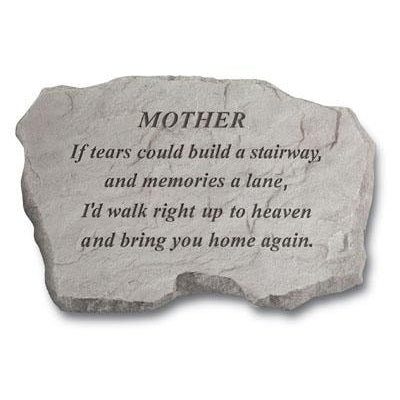 MOTHER – If Tears could Build… Memorial Gift-Memorial Stone-Kay Berry-Afterlife Essentials
