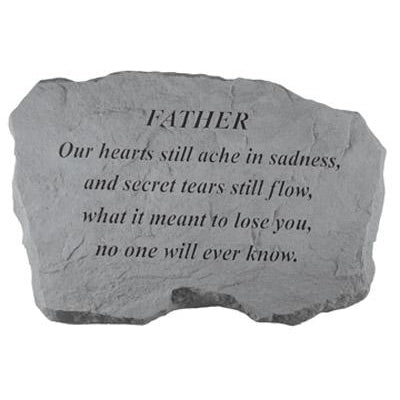 FATHER – Our Hearts Still Ache… Memorial Gift-Memorial Stone-Kay Berry-Afterlife Essentials
