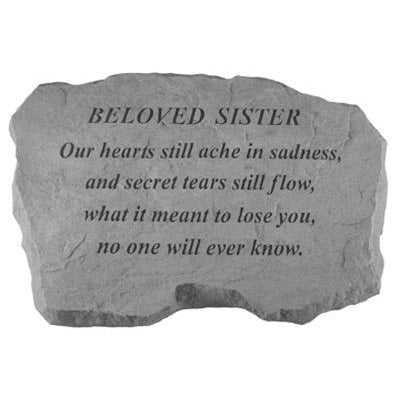BELOVED SISTER – Our Hearts Still Ache… Memorial Gift-Memorial Stone-Kay Berry-Afterlife Essentials