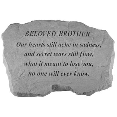BELOVED BROTHER – Our Hearts Still Ache.. Memorial Gift-Memorial Stone-Kay Berry-Afterlife Essentials
