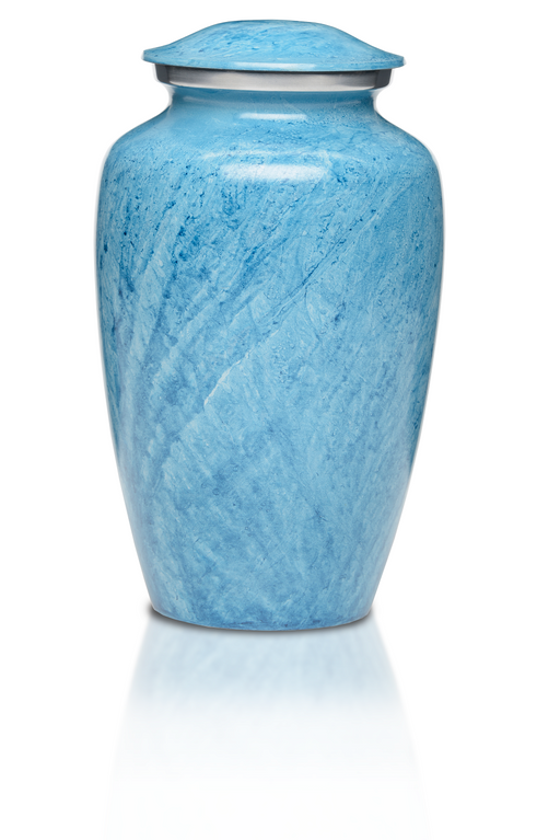 Alloy in Beautiful Blue Adult 200 cu in Cremation Urn-Cremation Urns-Bogati-Afterlife Essentials