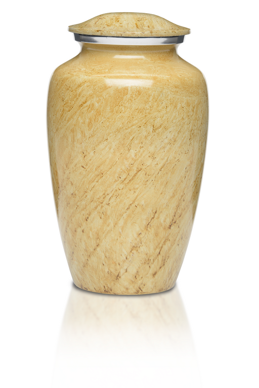 Alloy in Beautiful Ivory Adult 200 cu in Cremation Urn-Cremation Urns-Bogati-Afterlife Essentials