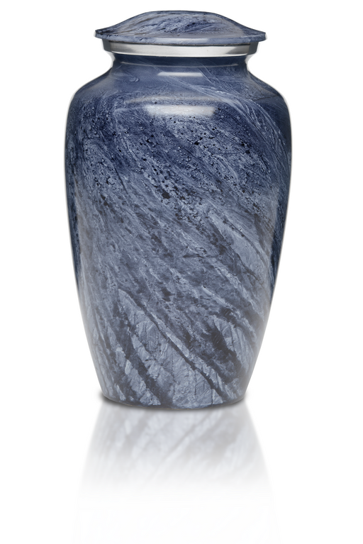 Alloy in Beautiful Blue-Gray Adult 200 cu in Cremation Urn-Cremation Urns-Bogati-Afterlife Essentials