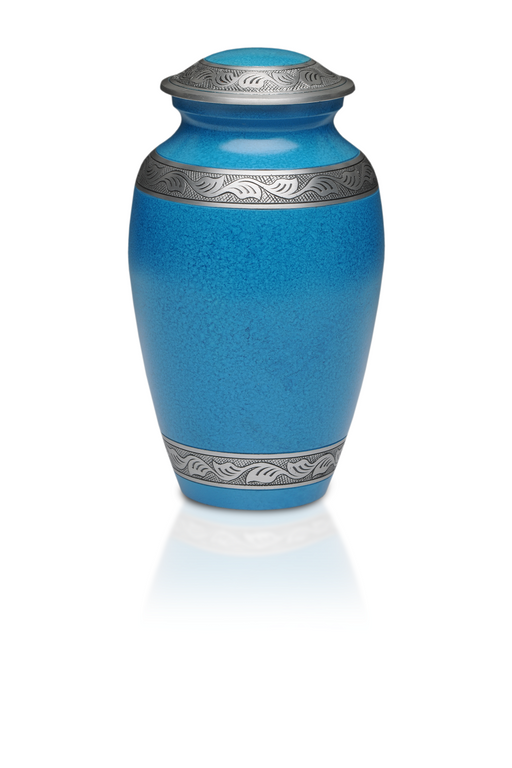Alloy in Beautiful Turquoise Blue Adult 200 cu in Cremation Urn-Cremation Urns-Bogati-Afterlife Essentials