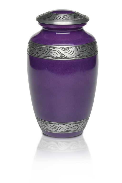Alloy in Beautiful Aubergine Purple Adult 200 cu in Cremation Urn-Cremation Urns-Bogati-Afterlife Essentials