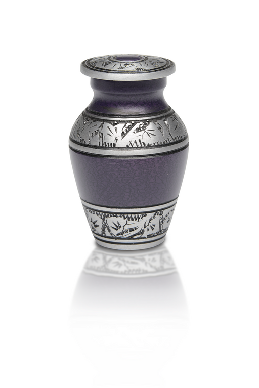 Alloy Urn – Purple Color – Keepsake-Cremation Urns-Bogati-Afterlife Essentials