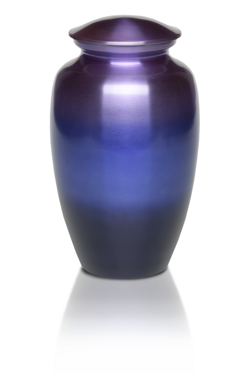 Alloy in Range of Beautiful Purple Tones Adult 200 cu in Cremation Urn-Cremation Urns-Bogati-Afterlife Essentials