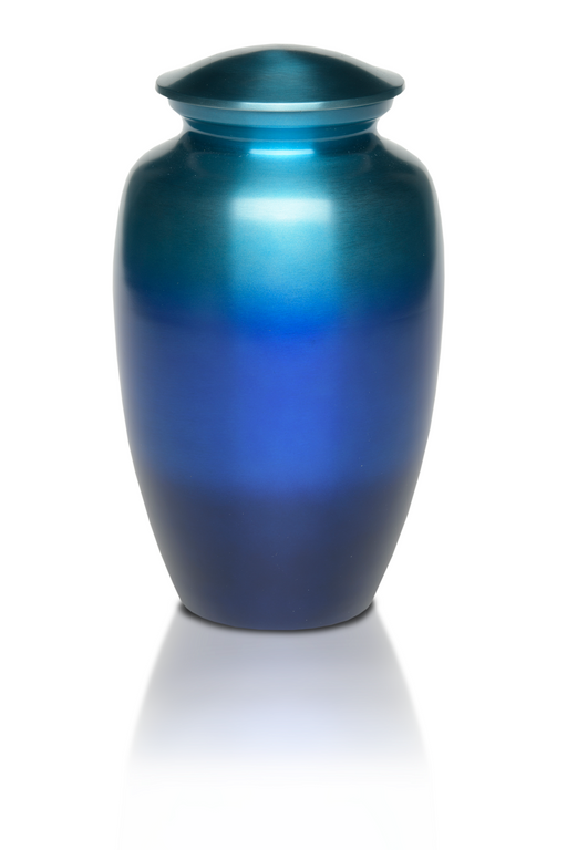 Alloy in Range of Beautiful Blue Tones Adult 200 cu in Cremation Urn-Cremation Urns-Bogati-Afterlife Essentials