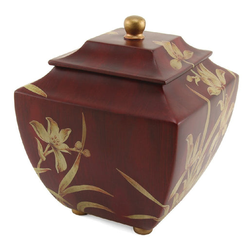 Orchid Burgundy Cremation Urn-Cremation Urns-Terrybear-Afterlife Essentials