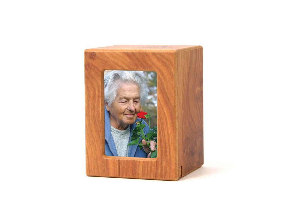 Natural Petite/Keepsake Photo Cremation Urn-Cremation Urns-Terrybear-Afterlife Essentials