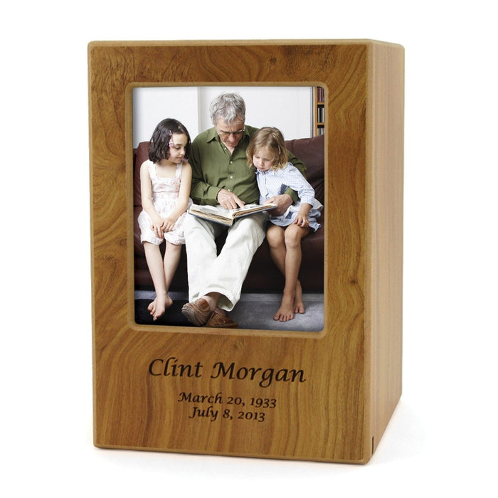 Natural Large/Adult Photo Cremation Urn-Cremation Urns-Terrybear-Afterlife Essentials