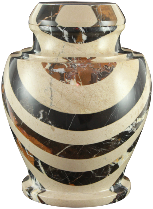 Carpel Cameo and & King Gold Natural Marble Adult 220 cu in Cremation Urn-Cremation Urns-Bogati-Afterlife Essentials
