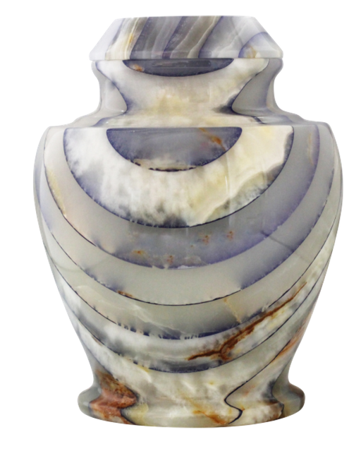 Carpel Onyx Blue Natural Marble Adult 220 cu in Cremation Urn-Cremation Urns-Bogati-Afterlife Essentials