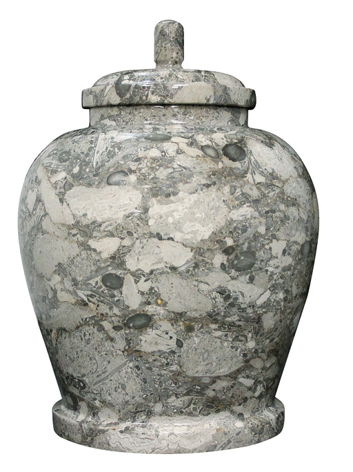 Classic Oceanic Natural Marble Adult 220 cu in Cremation Urn-Cremation Urns-Bogati-Afterlife Essentials