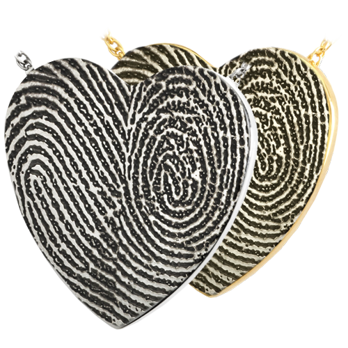 Heart Double Print Cremation Jewelry-Jewelry-New Memorials-Afterlife Essentials