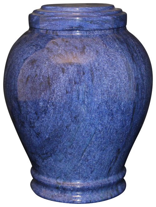 Embrace Blue Natural Marble Adult 220 cu in Cremation Urn-Cremation Urns-Bogati-Afterlife Essentials
