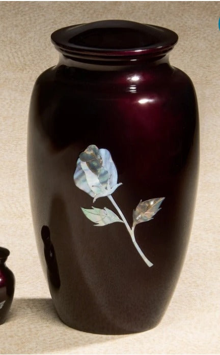 Luminescent Series Red Rose 200 cu in Cremation Urn-Cremation Urns-Infinity Urns-Afterlife Essentials