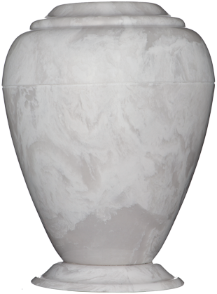 Georgian Cultured Marble Adult 235 cu in Cremation Urn-Cremation Urns-Bogati-White Carerra-Afterlife Essentials