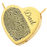 Heart Halfprint + Name Jewelry Pendant Cremation Jewelry-Jewelry-New Memorials-14K Solid Yellow Gold (allow 4-5 weeks)-Chamber (for ashes)-Afterlife Essentials