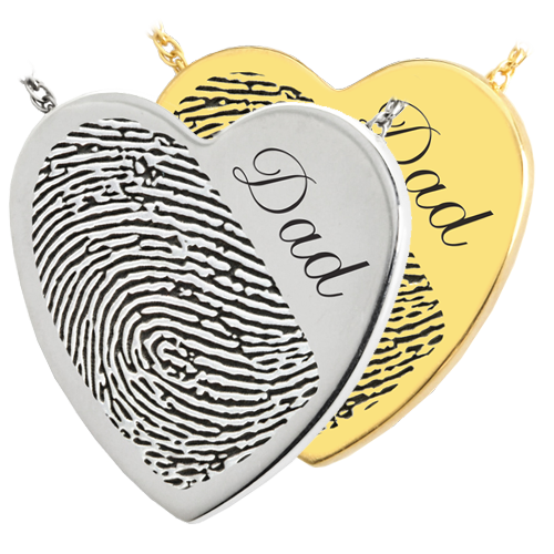 Heart Halfprint + Name Jewelry Pendant Cremation Jewelry-Jewelry-New Memorials-Afterlife Essentials