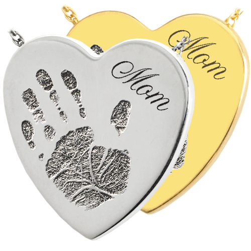 Heart Handprint Pendant Cremation Jewelry-Jewelry-New Memorials-Afterlife Essentials
