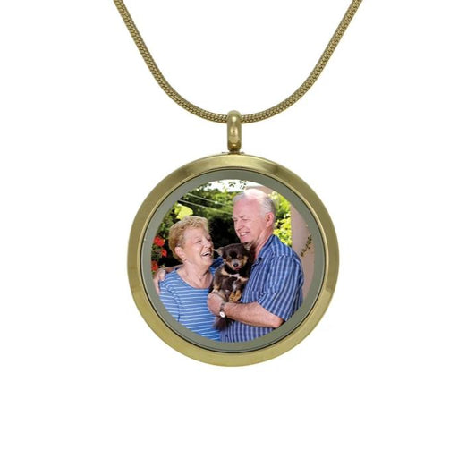 Round Pendant Companion Photo Necklace Cremation Jewelry-Jewelry-Terrybear-Bronze-Afterlife Essentials