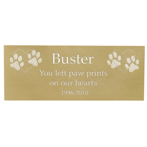 Engraved Pet Memorial Plaque- Large Brass Finish-Plaques-New Memorials-Afterlife Essentials