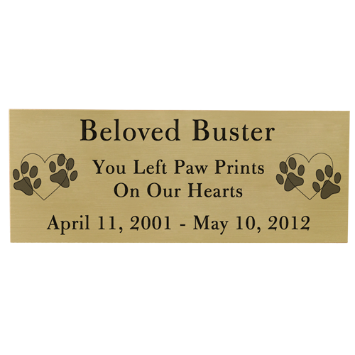 Engraved Pet Memorial Plaque- Large Brass Finish Black Fill-Plaques-New Memorials-Afterlife Essentials