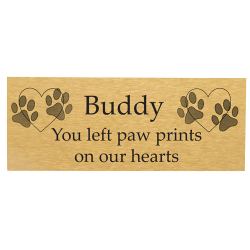 Engraved Memorial Flexi-Plaque- Large Brass Finish-Plaques-New Memorials-Afterlife Essentials