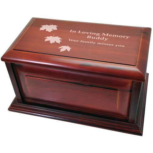 Classic Cherry Finish Raised Panel 240 cu in Cremation Urn-Cremation Urns-New Memorials-Afterlife Essentials