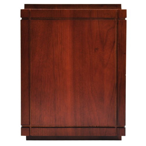 Cherry Finish Grooved Vertical Wood 350 cu in Cremation Urn-Cremation Urns-New Memorials-Afterlife Essentials