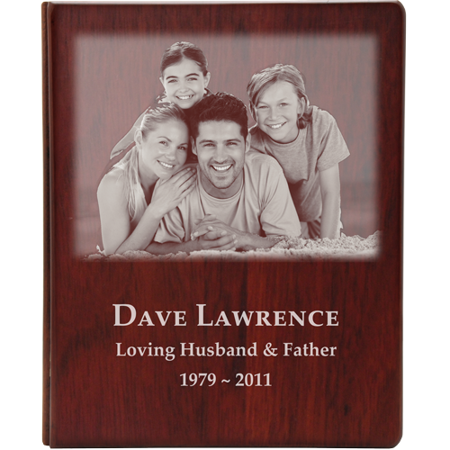 Funeral Guest Book Wooden Binder- Family Photo Option-Accessories-New Memorials-Afterlife Essentials