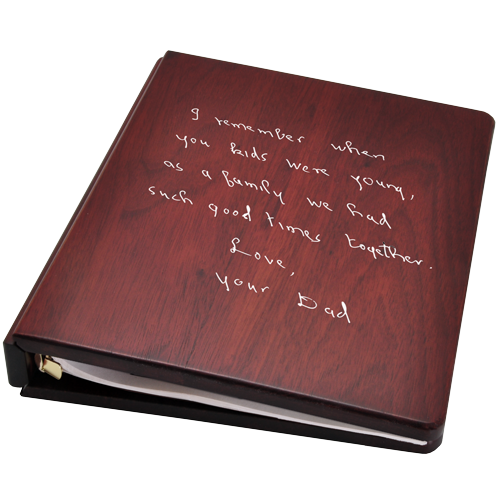 Funeral Guest Book Wooden Binder- Handwritten Note Option-Accessories-New Memorials-Afterlife Essentials