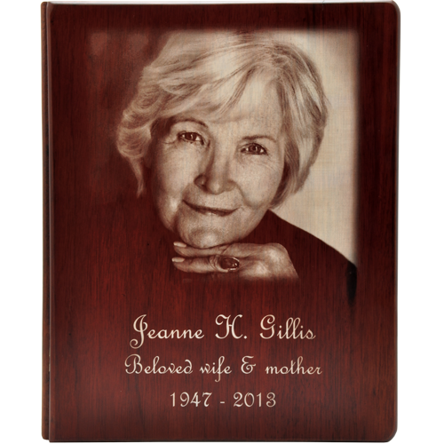 Funeral Guest Book Wooden Binder- Photo Option-Accessories-New Memorials-Afterlife Essentials