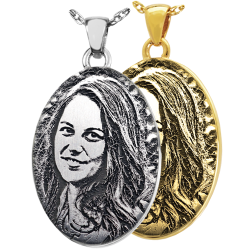 Oval Photo Pendant Cremation Jewelry-Jewelry-New Memorials-Afterlife Essentials