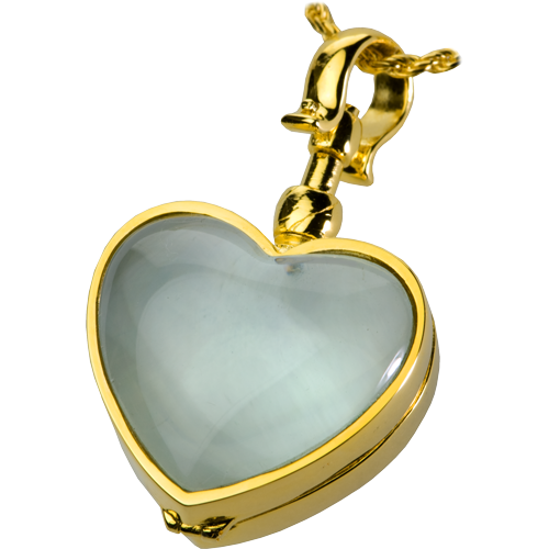 Victorian Glass Heart Locket (Not For Ashes) Cremation Jewelry-Jewelry-New Memorials-Afterlife Essentials