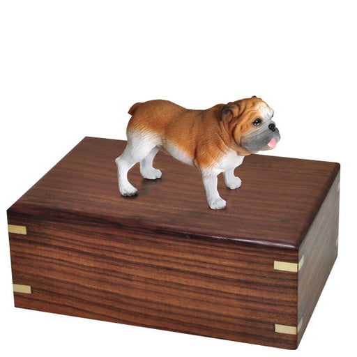 Bulldog Pet Wood Cremation Urn-Cremation Urns-New Memorials-Afterlife Essentials