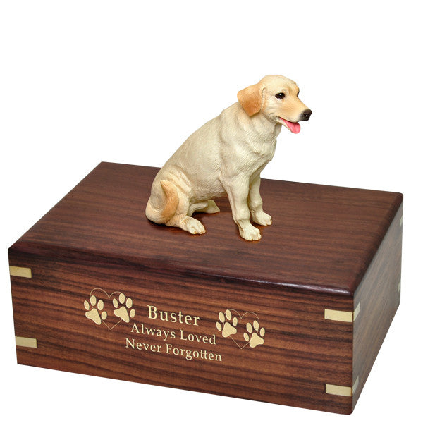 Labrador Retriever Yellow Pet Cremation Wood Urn-Cremation Urns-New Memorials-Afterlife Essentials