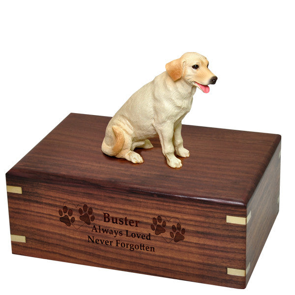 Labrador Retriever - Yellow Pet Cremation Wood Urns - Afterlife Essentials