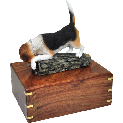 Beagle Stand Pet Wood Cremation Urn-Cremation Urns-New Memorials-Afterlife Essentials