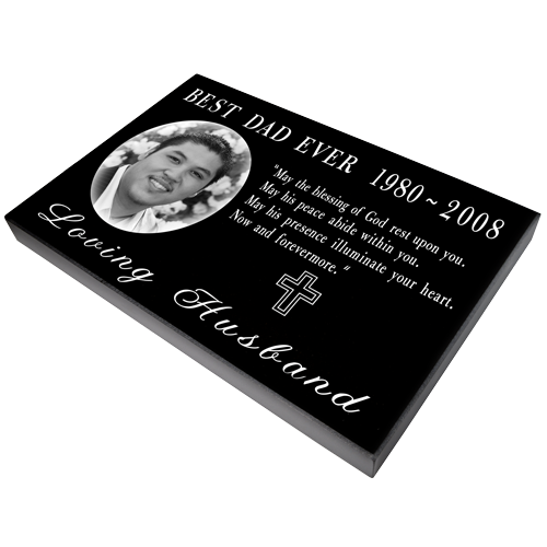 "Laser Engraved Granite Flat Headstone- 1"" thick-Headstones-New Memorials-Afterlife Essentials"
