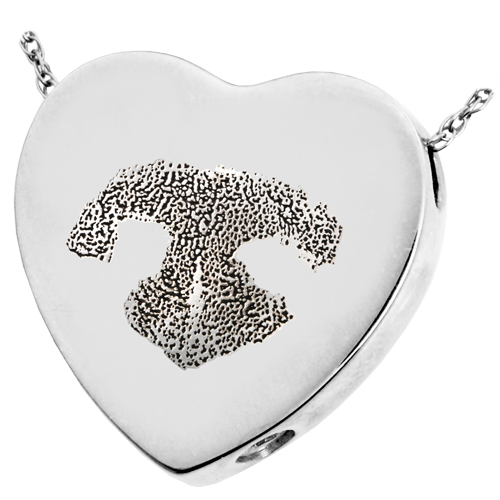 B&B Heart Actual Noseprint Pet Cremation Jewelry-Jewelry-New Memorials-925 Sterling Silver-Chamber (for ashes)-Afterlife Essentials